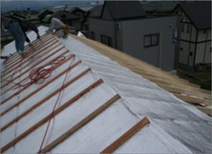 屋根施工写真
